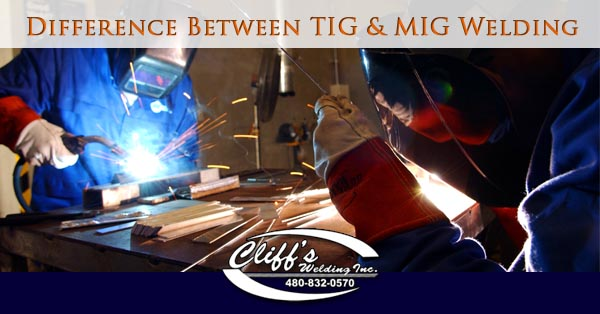 Difference Between Tig Mig Welding Cliffs Welding