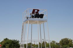 Football Filming Tower with Logo